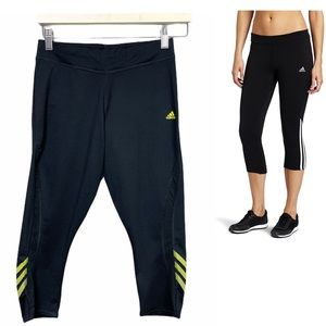 Adidas Cropped Work-Out Athletic Pants Black S